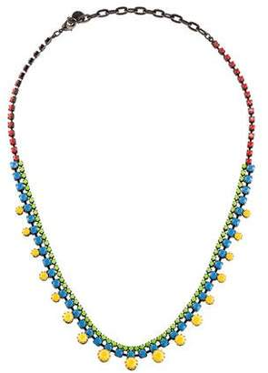Tom Binns Painted Crystal Collar Necklace