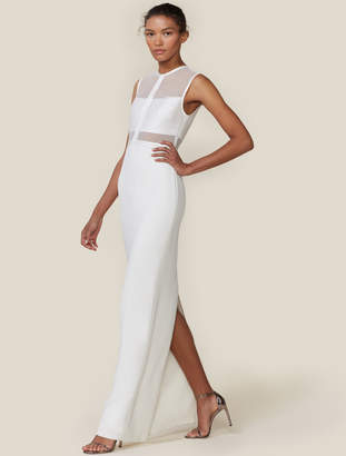 Halston Strip Applique Column Gown