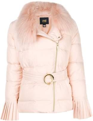 Class Roberto Cavalli racoon fur padded coat