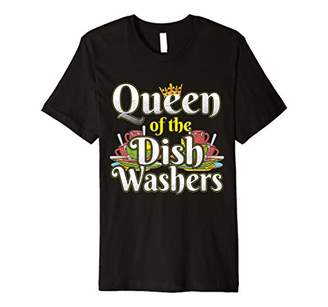 Queen Of The Dish Washers Funny Dishwasher Mom T-shirt