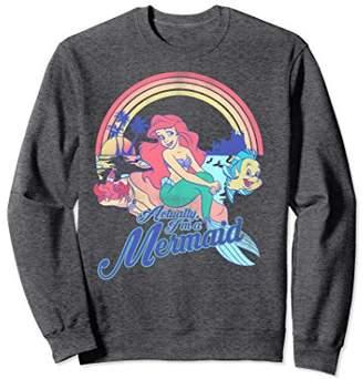 Disney Little Mermaid Pastel Rainbow Retro Sweatshirt