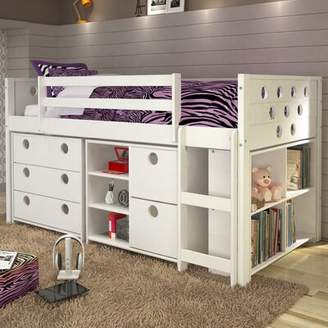 LOFT Mack & Milo Abey Circles Twin Bed with Storage and Bookcase Mack & Milo