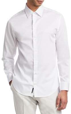 Emporio Armani Solid Stretch Shirt