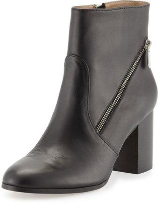 Adrienne Vittadini Bob Asymmetric Zip Bootie, Black $116 thestylecure.com