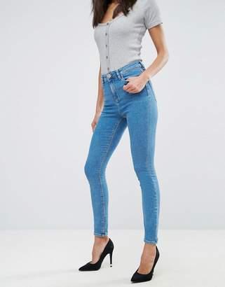 Asos Design DESIGN Ridley high waist skinny jeans in light wash