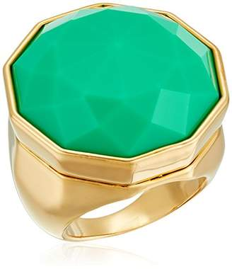 Trina Turk Large Facetted Teal Stone Ring
