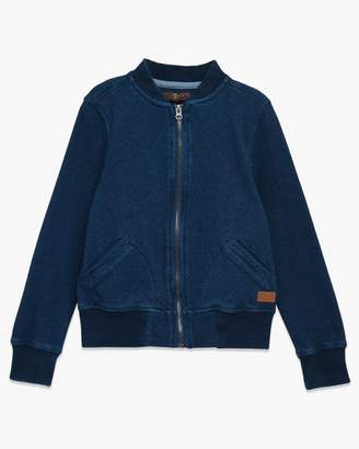 7 For All Mankind Boys 4-7 Bomber Jacket in Indigo