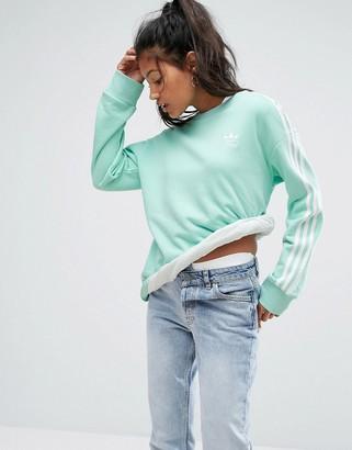 Adidas adidas Originals Mint Three Stripe Sweatshirt $60 thestylecure.com
