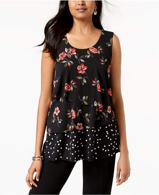 Alfani Petite Layered Sleeveless Top, Created for Macy's