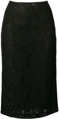 Brognano black lace skirt