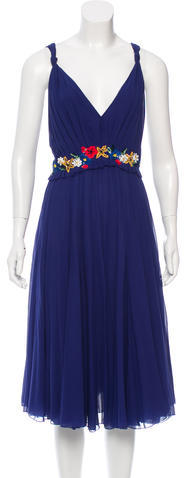 Marc Jacobs Marc Jacobs Embellished Silk Chiffon Dress