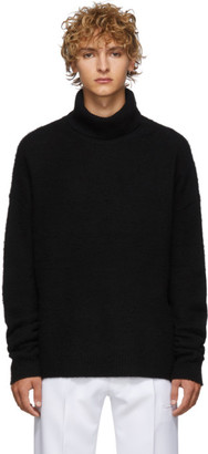 Acne Studios Black Cashmere and Wool Oversized Nyran Turtleneck
