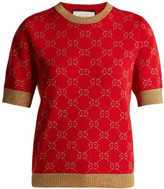 Gucci GG jacquard-knit cotton-blend sweater
