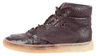 Balenciaga Embossed Leather Sneakers