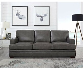 17 Stories Werner Leather Sofa 17 Stories