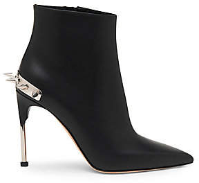 Alexander McQueen Women's Punk Stud Leather Booties