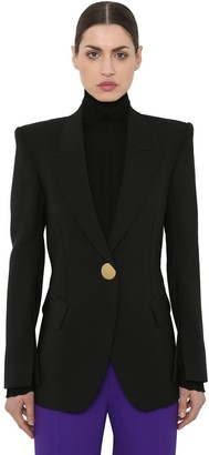 Petar Petrov BUTTON COOL WOOL BLAZER