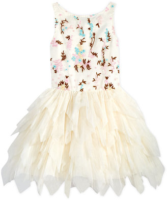 Nanette Lepore Floral-Embroidered Party Dress, Big Girls (7-16) $98.50 thestylecure.com