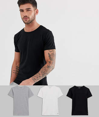 Tommy Hilfiger Stretch Crew Neck T-Shirts In 3 Pack In Regular Fit
