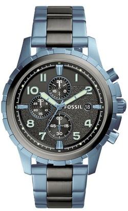 Fossil Dean Chrongraph Bracelet Watch, 45Mm $195 thestylecure.com