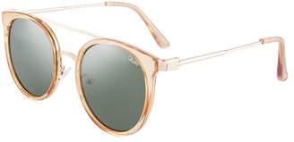 Quay Kandy Gram Round Metal/Plastic Sunglasses
