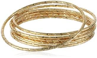 Panacea Diamond Cut Bangle Bracelet
