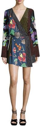 Diane von Furstenberg Floral & Dot Print Silk Jersey Dress, Multicolor $498 thestylecure.com