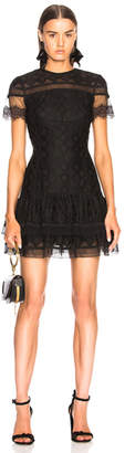 Jonathan Simkhai Threaded Mesh Mini Ruffle Dress