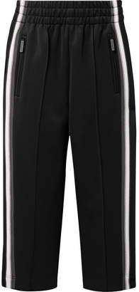 Marc Jacobs Cropped Striped Tech-jersey Track Pants