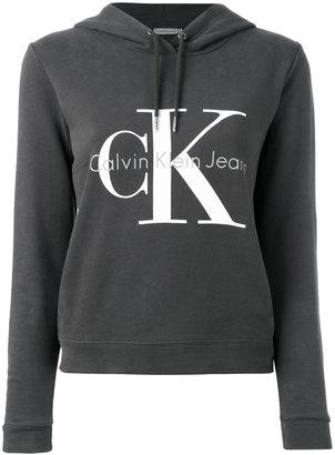 Calvin Klein Jeans logo hooded sweatshirt $108.75 thestylecure.com
