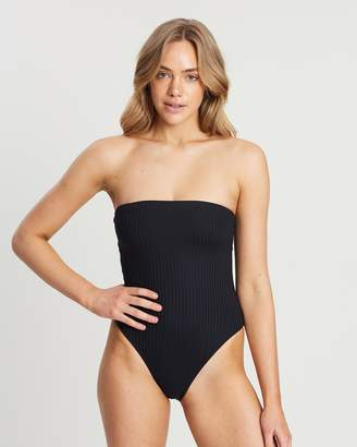 Cotton On Esther Rib Strapless Cheeky One-Piece