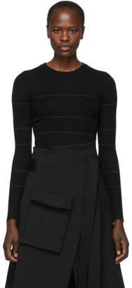 Proenza Schouler Black Silk and Cashmere Knit Sweater