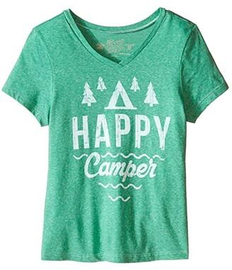 Original Retro Brand The Kids Happy Camper Short Sleeve V-Neck Tee (Little Kids/Big Kids)