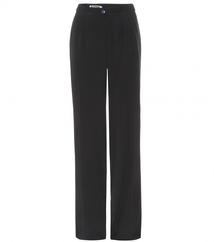 Jil Sander LORIS SILK TROUSERS