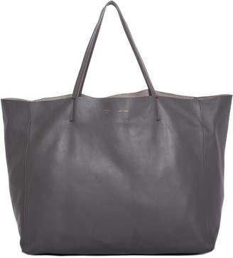 Celine Gray Leather Horizontal Cabas Tote