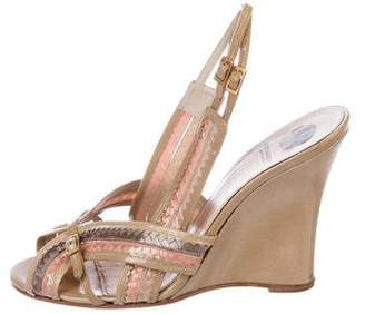 Viktor & Rolf Patent Leather Wedge Sandals