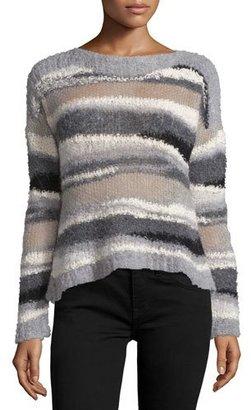 Line Dorian Striped Alpaca-Blend Sweater $295 thestylecure.com