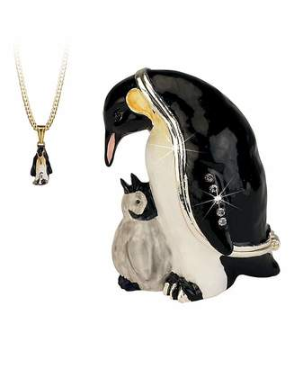 Fashion World Penguin Trinket Box with Necklace