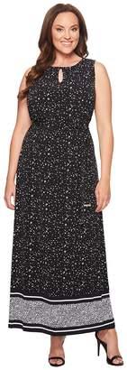 MICHAEL Michael Kors Size Nora Border Maxi Dress Women's Dress
