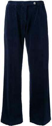 Massimo Alba wide leg velvet trousers