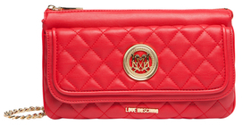 Love MoschinoSmall Quilted Flap Crossbody