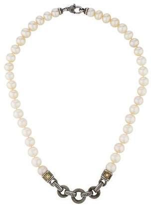 Judith Ripka Diamond & Pearl Strand Necklace