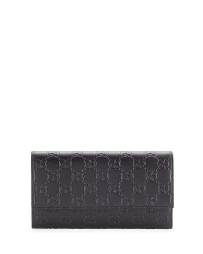 Gucci Gucci Gucci Signature Continental Wallet, Hibiscus Red