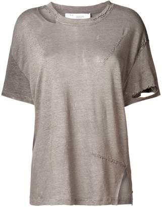 IRO ripped neck T-shirt