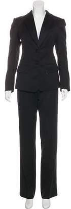 Saint Laurent Wool Wide-Leg Pantsuit