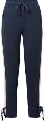 Splendid Seabrook Striped Cotton-jersey Track Pants - Navy