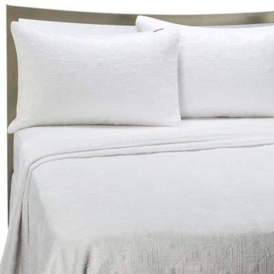 Kas Australia KAS® White Squared Twin Quilt