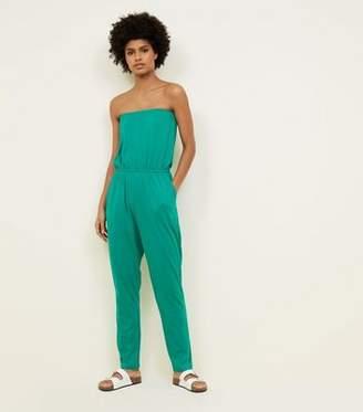 New Look Green Jersey Bandeau Jumpsuit