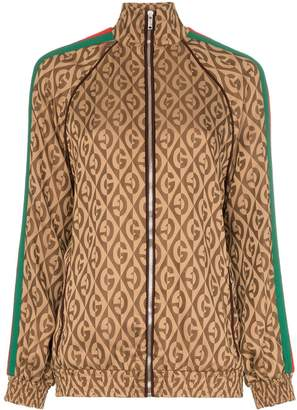 Gucci logo-print striped track jacket