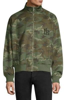 The Kooples Camo-Print Zip-Up Sweater